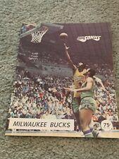 1971 Seattle Supersonics v Milwaukee Bucks Preseason Basketball Program