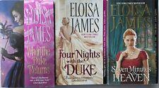 ELOISA JAMES ~ Lot 3 Desperate Duchesses Duke Returns Four Nights Seven Minutes
