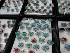 *US Seller*20 turquoise rings wholesale gemstone rings fashion jewelry