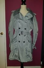 Burberry women's coat with detachable vest in grey color, pre-owned, size 12