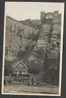 Postcard Hastings Sussex early view of East Hill Lift cliff RP