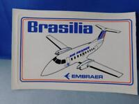 BRASILIA EMBRAER AIRLINES LOGO STICKER DECAL VINTAGE AIRPLANE AVIATION