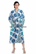 Beautiful Indian Hippie Mandala Cotton Kimino Bath Robes Intimates Sleepwear
