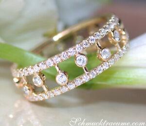 Femininer Chic: Traumhafter Diamanten Memory Ring | 0,95 ct. W SI | Gelbgold 585