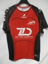 Maillot rugby R.C PIERREFEU porté n3 JICEGA rouge Zattera Durbano shirt maglia L