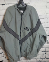 ARMY Skilcraft IPFU Jacket Gray Nylon Full Zipper Coat (Size: Medium-Long )