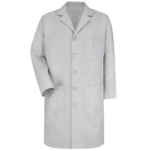 Men's Five Button Front Lab Coat - White, Blue, Navy, Grey