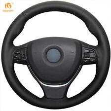 Black Leather Steering Wheel Cover for BMW F10 520i 528i 730Li 750Li 740Li #BM17