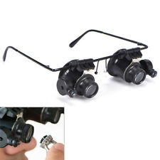 20x Magnifying Eye Magnifier Glasses Loupe Lens Jeweler Watch Repair LED Light.