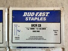 """500 pieces (6 strips) Duo-Fast  6424 CR 3/4"""" galv Staples DUOFAST"""