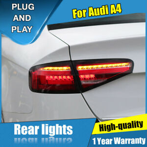 For Audi A4 Red LED Rear Lamps Assembly LED Tail Lights 2013-2016