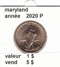 pièces de 1 $ maryland  2020 P