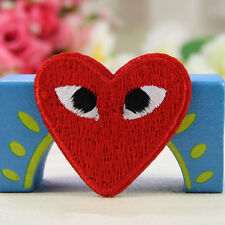 Embroided Love Red Heart Iron / Sew On Patch Badge Bag Hat Jeans Fabric Applique