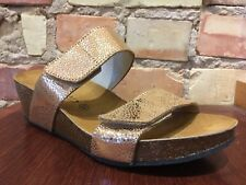 Eric Michael Liat Rose Gold Metallic Adjustable Sandal EU 38-US 7.5 NIB $95