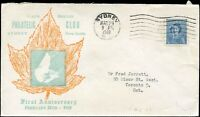 1952 Canada PHILATELIC CLUB Cover to FRED JARRETT with 4c Scott #276 stamp