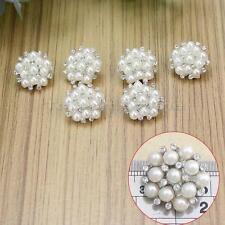 6x Boutons en Perlés Strass Bling pour Couture Mercerie Vêtement Sac Bricolage