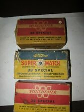 3 Vintage Winchester Western 38 Special Mid-Range 158 Gr Ammo Boxes Empty