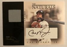 2003 Fleer Cal Ripken Jr  The Naturals Jersey Autograph Black /30  SP!