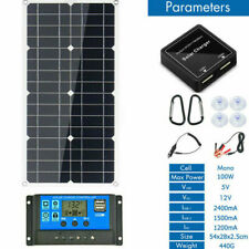 eSOLAR-100W 12V Mono Flexible Solar Panel W/20A Controller For Car Phone Charge