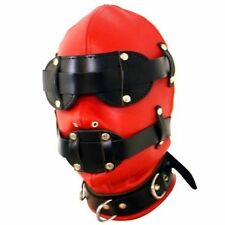 Red/Black Total Lockdown, faux LEATHER, Lockable with 3 padlocks UK POST!