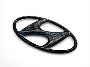 Hyundai Genesis Coupe 2010-2012 Carbon Fiber Grille Emblem OEM Front Bumper Logo