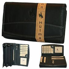0805671b9ef96 XXL Geldbörse Geldbeutel Leder für Damen Frauen Super Qualität Neu schwarz