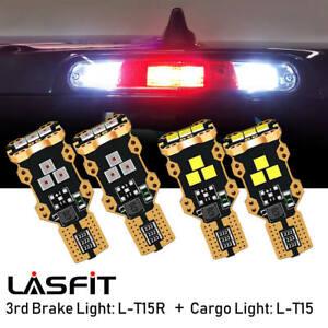 LED White Cargo Truck Light+Red Third Brake Bulbs Combo for Ford F-150 1997-2021