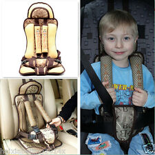 Portable Protection Baby Car Seat Safety Pad Cushion Child Travel Secure Brown