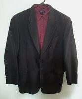 RM Williams Mens Black Blazer Sports Jacket Sz108R Brushed Cotton Made in AU VGC