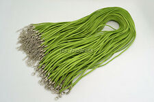 20pcs Green Suede Leather String Necklace Cord Jewelry Making 47cm DIY FREE