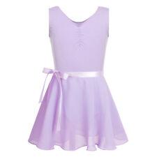 Girls Kids Camisole Ballet Dance Dress Leotard Gymnastics Tutu Dancewear Costume