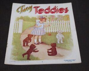 Antique Linenette Book TINY TEDDIES Teddy Bears