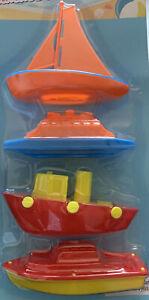 Water Bath Tub Boats Pool Boats Water Summer Toys (4 )Plastic Boats