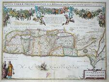 MERCATOR HONDIUS SITUS TERRAE PROMISSIONIS BIBLIORUM HEILIGES LAND MOSES 1606