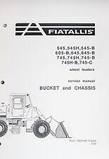 FIAT ALLIS 745 WHEEL LOADER REPAIR SERVICE WORKSHOP MANUAL FULL