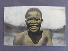 African Native Boy Capetown South Africa Postcard