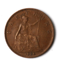1936 1F Great Britain Farthing Bronze Coin