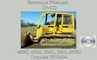 John Deere 450G 455G 550G 555G 650G Crawler Repair Technical Manual TM1404