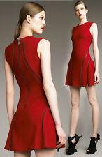 McQ by Alexander McQueen BLACK coated canvas circle zipper dress