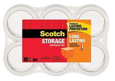 Scotch 3m Storage Packing Tape 6 Rolls Heavy Duty Shipping Packaging Moving