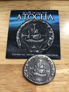 1622 ATOCHA Silver COB 8 Reales Daniel Carr-Moonlight Mint. 25 to 26g  .999 Fine