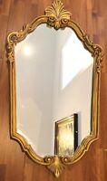 Superbe miroir ovale doré vintage style baroque ( 73 cm )