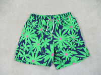 Lilly Pulitzer Swim Trunks Adult Small Green Blue Bathing Suit Shorts Preppy Men