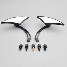 Black Spear Custom Side Mirrors For Motorcycle Street Sport Bike Cruiser Chopper