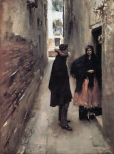 A Street in Venice by John Singer Sargent Giclee Canvas Print