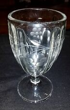Vintage EAPG Candy Dish / Vase - Grapes And Vines