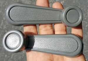 NEW PAIR Window Crank Lever Handle GRAY FOR Toy Tacoma, T100, Pickup, Corolla