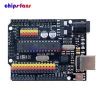 Compatible Arduino UNO R3 Atmgea328P PLUS Sensor I/O Shield 16U2 Expansion Board