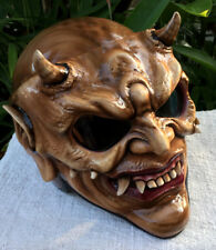 Devil Custom Helmet 3D Evil Demon Skull DOT Helmet Monster Helmet Horn Satan New