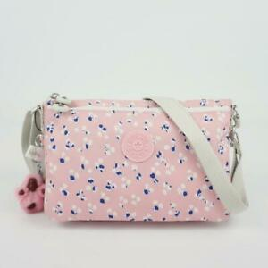 KIPLING MIKAELA Travel Shoulder Crossbody Bag Painterly Dots Pink